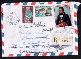 1970  Lettre Avion Recommandée Pour La France  NAPOLÉON Par Rouillard Yv PA 31,  39, 77 - Polynésie Française