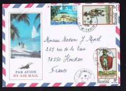 1984  Lettre Avion  Pour La France   Yv 136, 202, 203 - Briefe U. Dokumente