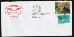 1984  Lettre Intérieure  Yv 207 (Vahiné), 194 (Poisson) - Briefe U. Dokumente