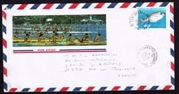 1990  Lettre Avion Pour La France   Yv 351  (Poisson) - Polynésie Française