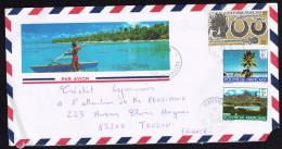 1990  Lettre Avion Pour La France   Yv 133, 259, 290 - Polynésie Française