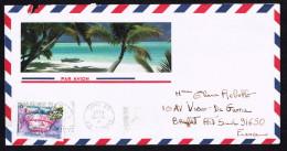 1991  Lettre Avion Pour La France   Yv 342 (Gâteau Joyeux Anniversaire) - Polynésie Française