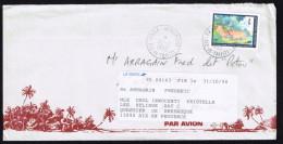 1995  Lettre Avion Pour La France   Yv  479A ( Année Du Cochon, Sans Nom D'imprimeur) - Polynésie Française