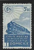 """FR Colis Postaux YT 184 """" Domicile 3F90 Bleu """" 1941 Neuf* - Parcel Post"""