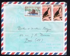 1969  Lettre Avion Pour La France   Yv  350 (Tourou, Oiseau), X2, 352 (Malle-poste) - Briefe U. Dokumente