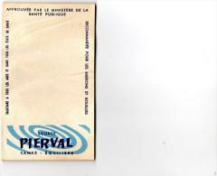 CARNET -   PUBLICITE -  SOURCE  PIERVAL - Santé équilibre   ( Carnet Pour Comptes, Addition Dans Un Café Ou Restaurant) - Publicités
