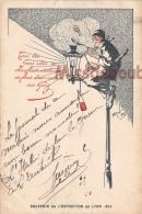69 -Souvenir De L'exposition De LYON  1914 - PUB -  Les Gens Chic Se Chauffent Et S'eclaire Au GAZ  -   2 Scans - Autres