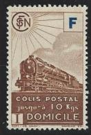 """FR Colis Postaux YT 200 """" Livraison à Domicile  F Bleu Timbre Brun """" 1943 NSG - Paketmarken"""