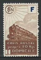 """FR Colis Postaux YT 200 """" Livraison à Domicile  F Bleu Timbre Brun """" 1943 Neuf* - Paketmarken"""