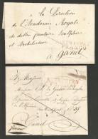 Belgique - 2 LSC De Anvers à Gand Non Datées - ANTWERPEN FRANCO En Rouge - 1815-1830 (Période Hollandaise)