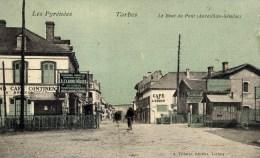 65 TARBES Le Bout Du Pont (Aureilhan-Séméac)  Animée Couleur Passage à Niveau Gd Café Continental,Café De L'Union - Tarbes