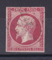 NAPOLEON N° 17A OBL COTE 65€ - 1853-1860 Napoléon III