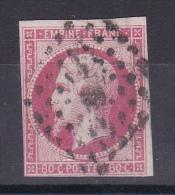 NAPOLEON N° 17B OBL COTE 55€ - 1853-1860 Napoléon III
