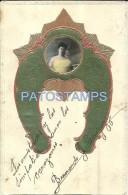 16875 ART ARTE NOUVEAU EMBOSSED WOMAN  POSTAL POSTCARD - Schone Kunsten