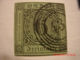 BADEN, SCOTT#3, 6KR BLACK ON YELLOW GREEN, USED - Bade