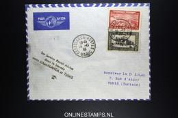 Maroc 1ere Liaison Aerienne  Dans Le Journee Entre Casablanca Et Tunis  14-11-1938 - Morocco (1891-1956)