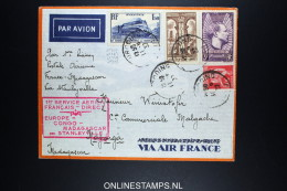 France Premier Liaison Postale Aerienne France Madagascar Via Stanleyville 1937 - 1927-1959 Brieven & Documenten