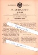 Original Patent - Carl Billeter In Zürich , 1905 , Stimmschlüssel Für Klavier !!! - Documents Historiques