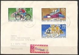 Deutschland - DDR -Bedarfsbrief - Mi.Nr.     2126 - 2131   -    Gestempelt - Marcophilie - EMA (Empreintes Machines)