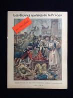 Ancien Protège-cahier Illustré  Les Gloires Navales De La France - Buvards, Protège-cahiers Illustrés