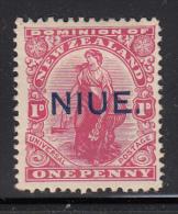 Niue MH Scott #22 SG #24 NIUE Overprint On NZ 1p 'Commerce' - Niue
