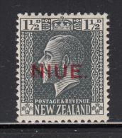 Niue MH Scott #23 SG #25 NIUE Overprint On NZ 1 1/2p George V - Niue