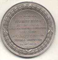 A LA MEMORIA DE HUMBERTO I REY DE ITALIA NOBLE MAGNANIMO CABALLEROSO - TESTIMONIO DE SENTIMIENTO Y GRATITUD DEL PUEBLO 2 - Italy