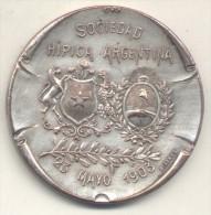 SOCIEDAD HIPICA ARGENTINA 23 DE MAYO DE 1903 MEDALLA BUENOS AIRES GRABADOR BELLAGAMBA Y ROSSI RARISIME MEDAGLIA CHEVAL - Firma's