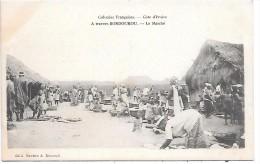 COTE D´IVOIRE - Colonies Françaises - A Travers BONDOUKOU - Le Marché - Côte-d'Ivoire