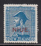 Niue MH Scott #47 SG #49 Niue Overprint On NZ 2sh George V, Blue - Niue