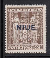 Niue MH Scott #49 SG #51 Niue Overprint On NZ 2sh6p Coat Of Arms - Niue
