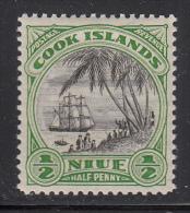 Niue MH Scott #53 SG #55 1/2p Landing Of Captain Cook - No Watermark - Niue