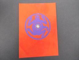 New Art (santorini ) Handpainted Card (animal  Sur Fond Rouge ) - Schilderijen