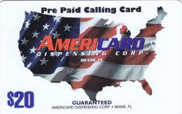 USA  Prepaid Card - BTI Telecommunications Services   / American Flag 20$ - Vereinigte Staaten