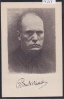 Benito Mussolini : Cartolina Doppo Acquaforte Di C. Grimaldi (13´658) - Histoire