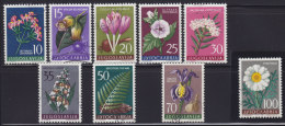 3579. Yugoslavia, 1957, Flowers, Used (o) Michel 812-820 - 1945-1992 Socialistische Federale Republiek Joegoslavië