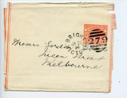 Australia Victoria 1894 Newspaper Wrapper Brighton 279 Duplex Cancel (E507) - 1850-1912 Victoria