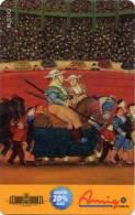 Lote TT114, Colombia, Tarjeta Telefonica, Phone Card, Comcel, Fernando Botero, Ruedo,  20.000, Arte, Art, Used, Bull - Colombia