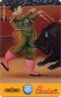 Lote TT95, Colombia, Tarjeta Telefonica, Phone Card, Comcel, Fernando Botero, Banderillas, 20.000, Arte, Art, Bull, Used - Colombia