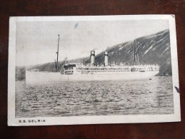 877- Steamers Liners Paquebot Ship Boat SS GELRIA  Lloyd Royal Amsterdam 1930 - Paquebots