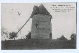 5645    CPA  CRECY En PONTHIEU  : Ancien Moulin 1933 - Crecy En Ponthieu