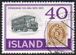 Iceland SG507 1973 Stamp Centenary 40k Good/fine Used - Used Stamps
