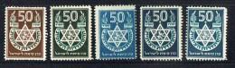 50th Ann. Zionist Organization  Labels 5 Different  MH * - Israel