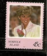 Norfolk Island-1998 Diana Princess Of Whales   MNH - Norfolk Island