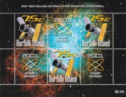 Norfolk Island 2001 New Zealand Stamp Exhibition Souvenir Sheet MNH - Norfolk Island
