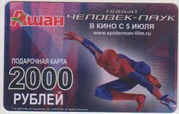 GIFT CARD - RUSSIA - AUCHAN 22. - SPIDERMAN - RARE! - 2000 - Cartes Cadeaux
