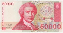 Croatia 50000 Dinara 30.5.1993 Pick 26a UNC - Croatia