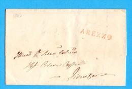 PREFILATELIA - GRANDUCATO DI TOSCANA - MANOSCRITTO - DA AREZZO PER FIRENZE - ANNO 1843 - Italy