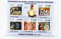 Picasso, Cezanne,NUS,SaoTome YT3343/7***MNH - Picasso