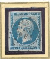 N°14 NUANCE OBLITERATION BELLE FRAPPE (ET,OU VARIETE) - 1853-1860 Napoléon III.